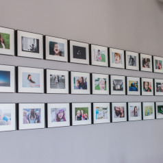 Photo wall display | wall art | picture wall